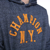 Champion - Navy Embroidered Hoodie- XLarge