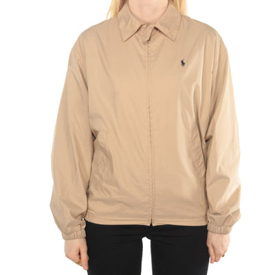 Ralph Lauren - Beige Embroidered Harrington Jacket - Large