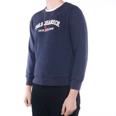 Ralph Lauren - Navy Embroidered Crewneck Sweatshirt - Small