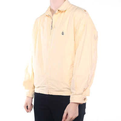 Nautica - Yellow Embroidered Zipped Harrington Jacket - Large