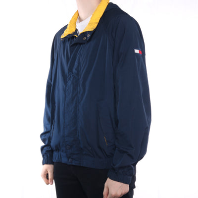 Tommy Hilfiger - Blue Zip Up Windbreaker with Hood - Large
