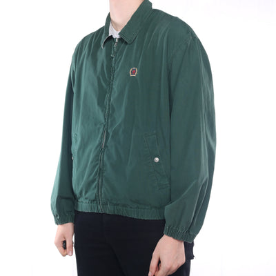 Tommy Hilfiger - Green Embroidered Zipped Harrington Jacket - Large