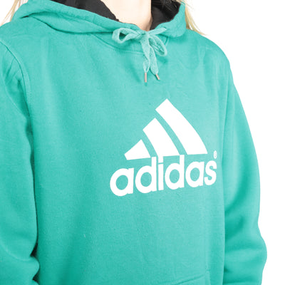 Adidas - Green Spellout Hoodie - XXLarge