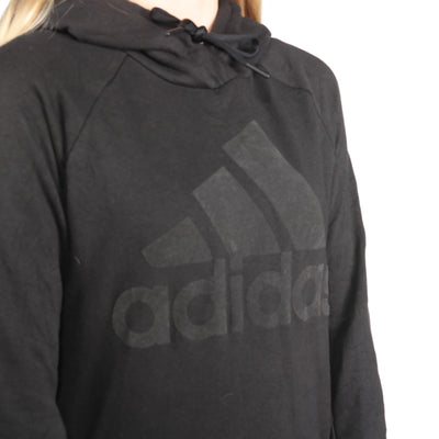 Adidas - Black Spellout Hoodie - Small