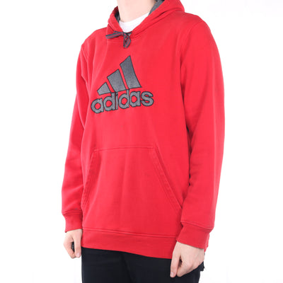 Adidas - Red Embroidered Hoodie - XXLarge