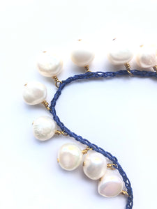 Fresh water pearl crochet  necklaces