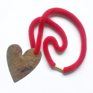 Hand Hammered Heart Necklaces