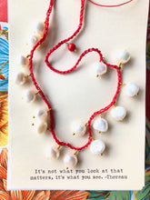 Load image into Gallery viewer, Fresh water pearl crochet  necklaces