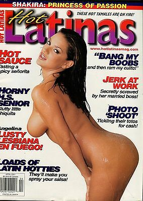 Hot Latinas Magazine Lusty Lesbiana Angelina April 2001 021114lm-epa - Used