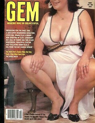 Gem Busty Magazine Cover Girl Donna October 1983 110918lm-ep