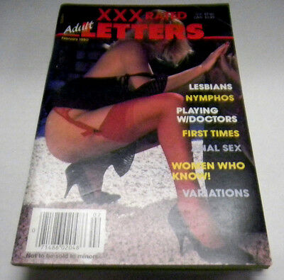 XXX Rated Letters Adult Digest Lesbians, Nymphos February 1990 022714lm-ep - Used