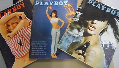 Lot Of 3 Playboy Magazines Kim Novak & More! 1965 w/centerfolds 031918lm-ep - Used