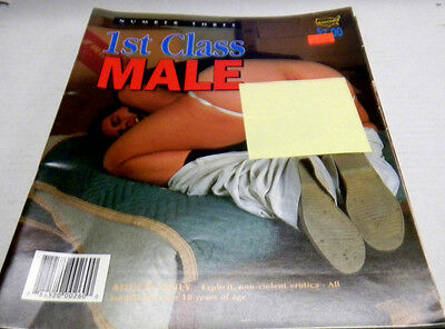 1st Class Male Gay Adult Magazine #3 1996 nm 100813lm-ep - Used