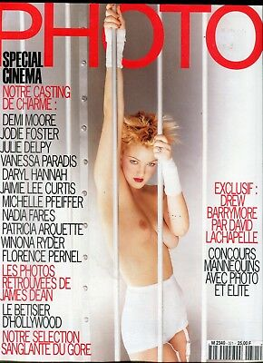 Photo French Magazine Drew Barrymore #321 June 1995 060518lm-ep