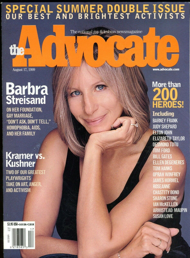 The Advocate Gay & Lesbian Magazine Barbara Streisand August 1999 051419lm-ep