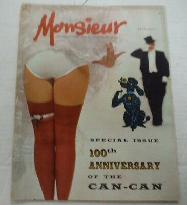 Monsieur Adult Magazine 100th Anniversary Of Can-Can September 1960s 100615lm-ep