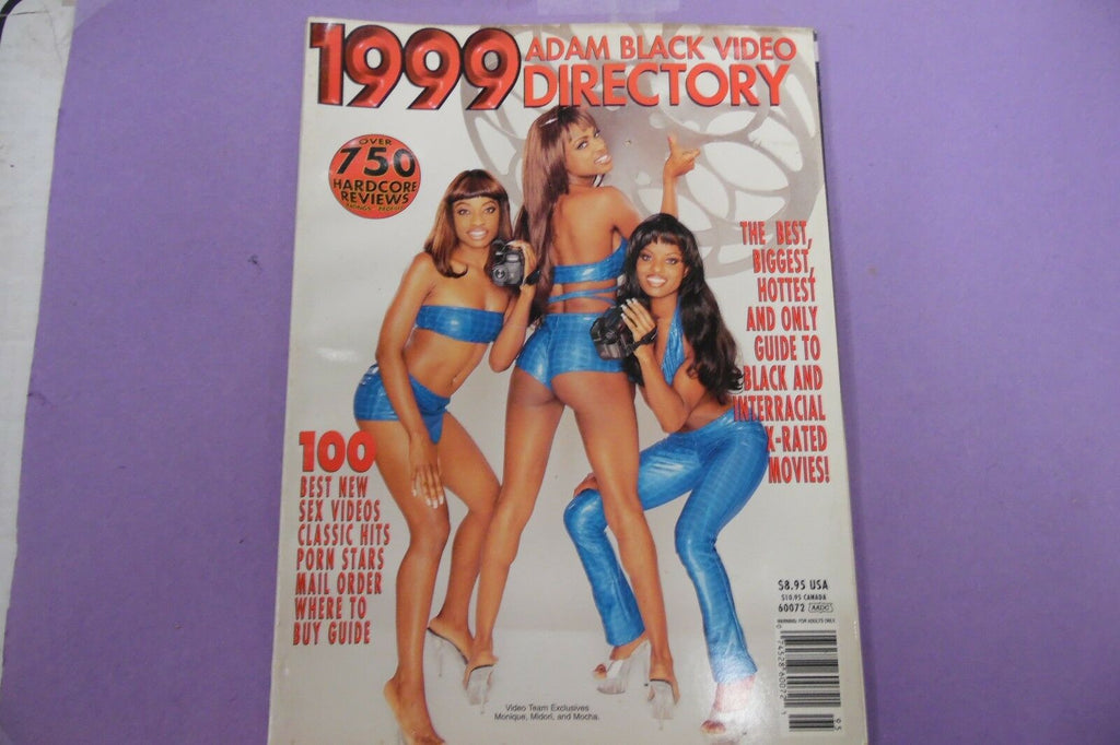 1999 Adam Black Video Directory Magazine Monique 092416lm-ep3 - Used