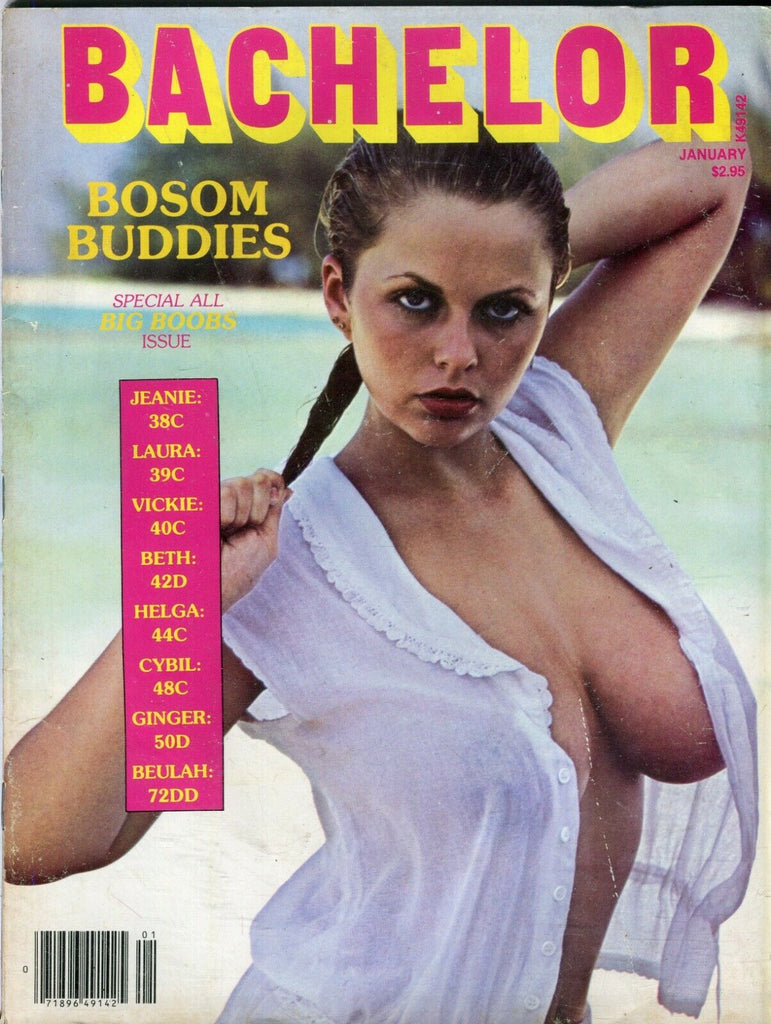 Bachelor Magazine Joanne Latham January 1981 Big Boobs Issue 092819lm-ep