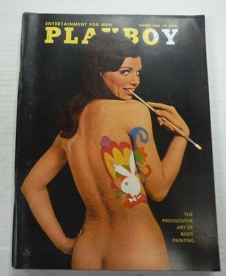 Playboy Adult Magazine Art Of Body Painting March 1968 nrmt 100515lm-ep - New