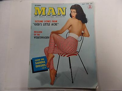 Modern Man Adult Magazine Saundra Edwards May 1958 ex 021316lm-ep