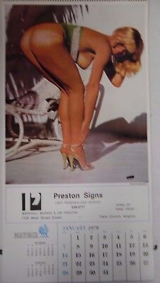 Mayfair 1979 Advertising Wall Calendar Preston Signs 103017lm-ep