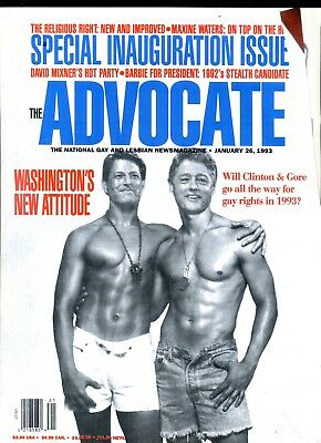 The Advocate Gay Lesbian Magazine Clinton & Gore January 1993 040418lm-ep2