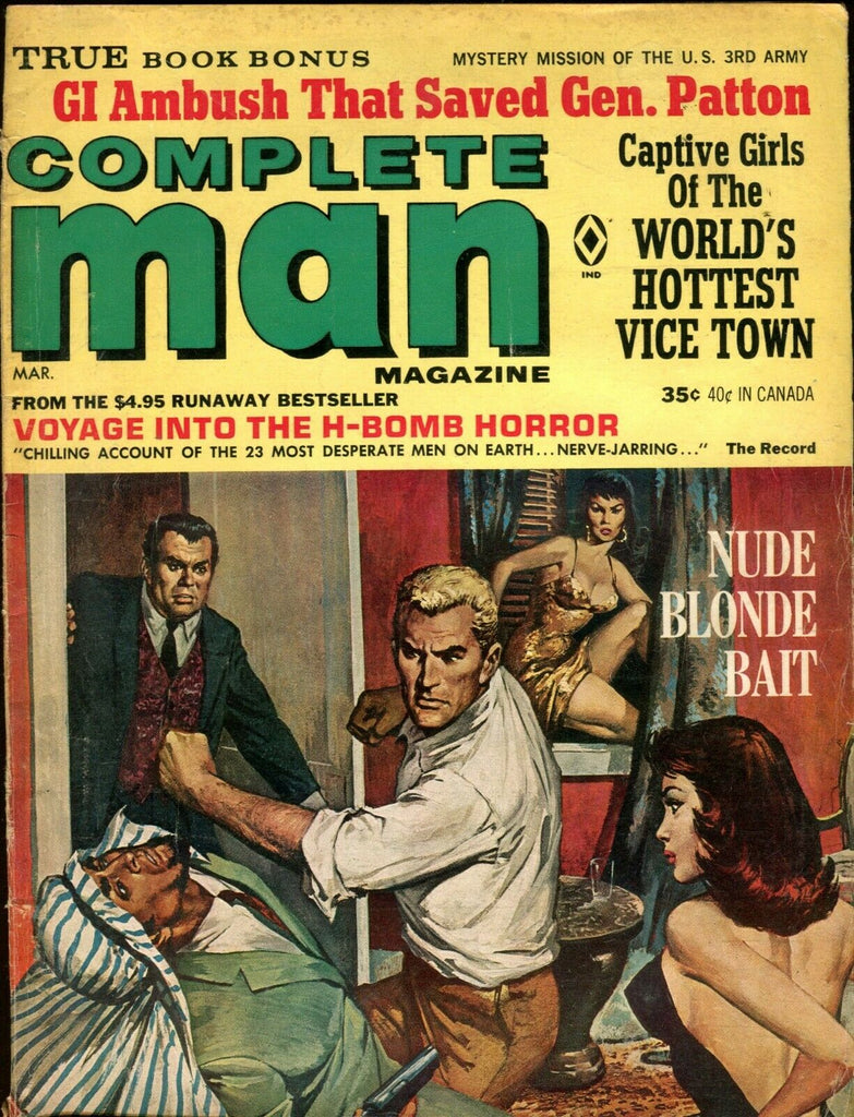 Complete Man Magazine Nude Blonde Bait March 1966 072319lm-ep