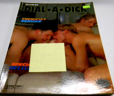 "Dial A Dick Gay Adult Magazine ""Emergency Service"" vg 100313lm-ep"