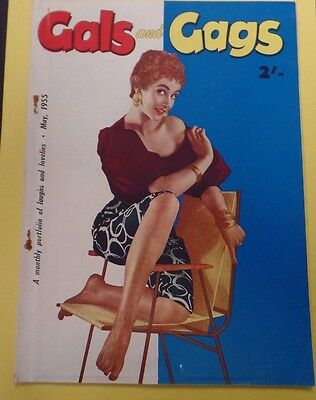 Gals and Gags Adult Vintage Magazine May 1955 111915lm-ep