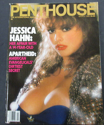 Penthouse Adult Magazine Jessica Hahn March 1988 vg 042415lm-ep - Used
