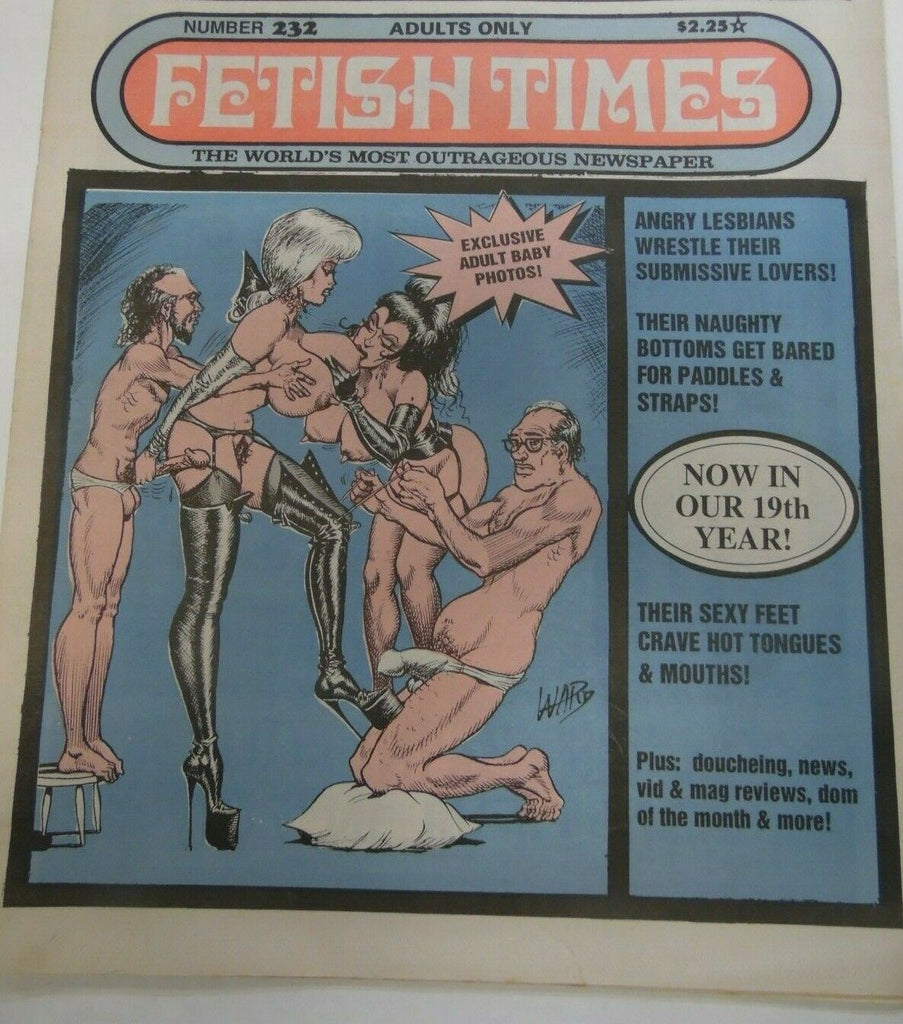 Fetish Times Fetish Times Digest Newspaper Angry Lesbians Wrestle #232 1992 120619lm-ep2 - Used