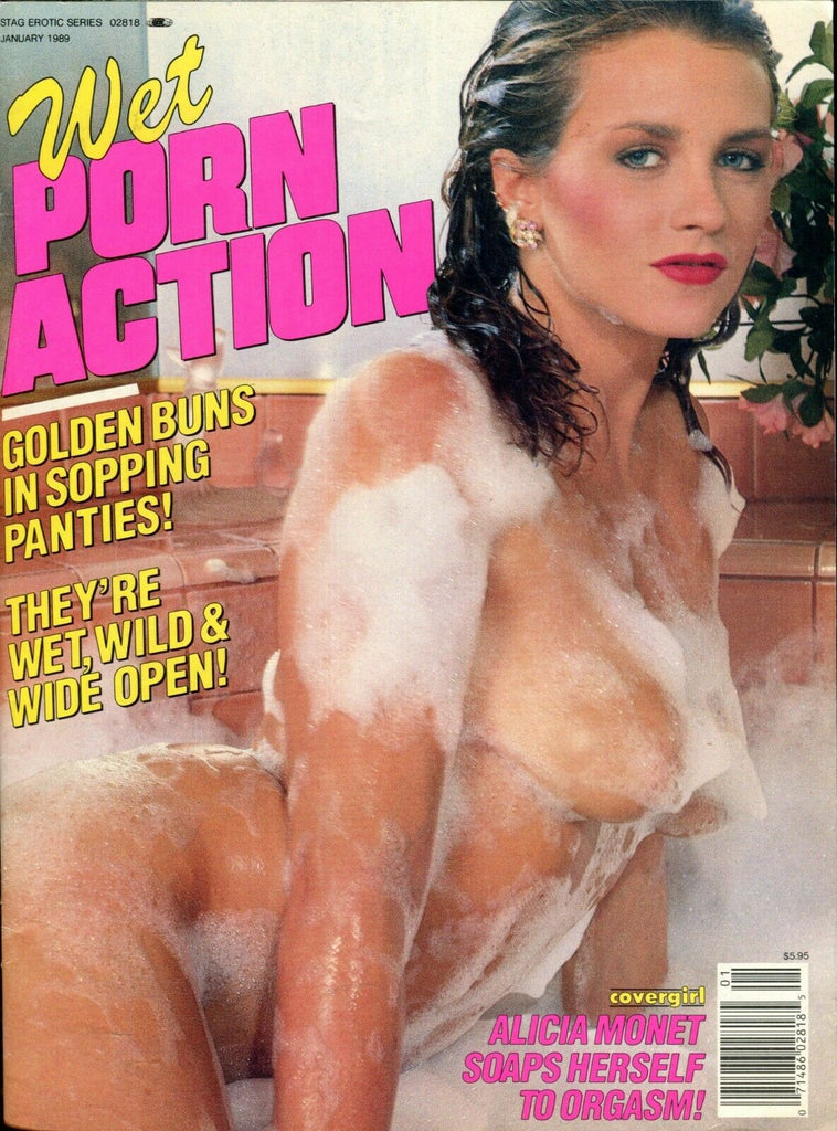 Wet Porn Action Magazine Alicia Monet January 1989 051819lm-ep