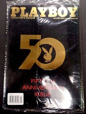 Playboy 50th Anniversary Adult Magazine January 2004 new/sealed 120915lm-ep - New