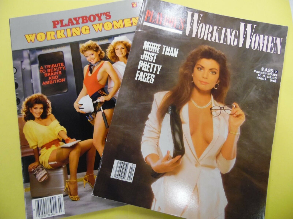 Lot Of 2 Playboy's Working Women Special Edition 1984/1988 052116lm-ep - Used