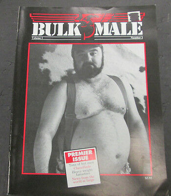 Bulk Male Gay Adult Magazine Heavy Weight Fantasies vol.1 #1 1991 073015lm-ep