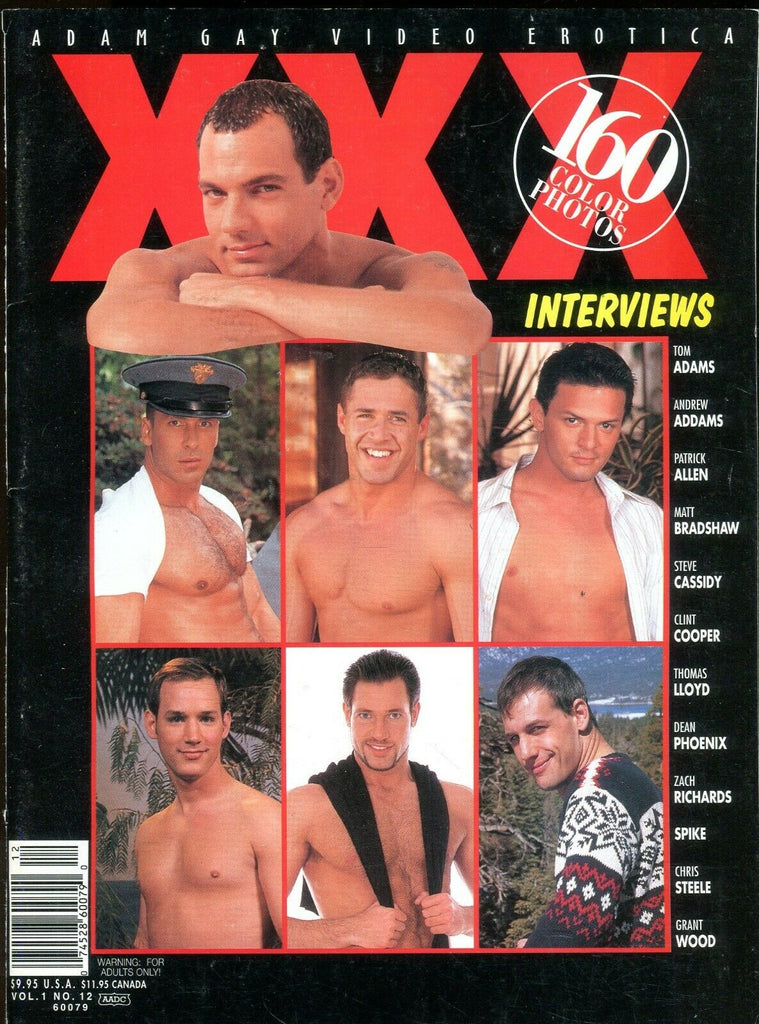 Adam Gay Video Erotica XXX Gay Magazine Tom Adams vol.1 #12 2001 110519lm-ep