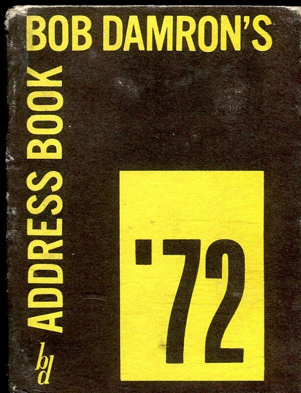 Bob Damron Bob Damron's Address Book '72 Eighth Edition over 1,875 Listings! 082619lm-ep - Used