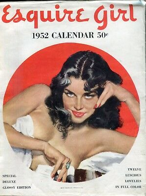Esquire Girl Calendar 1952 Special Deluxe Glossy Edition 062318lm-ep2
