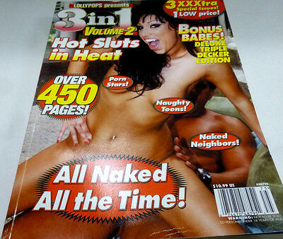 3 in 1 Best of Porn Adult Magazine Over 450 Pages! nm 022114lm-ep - New