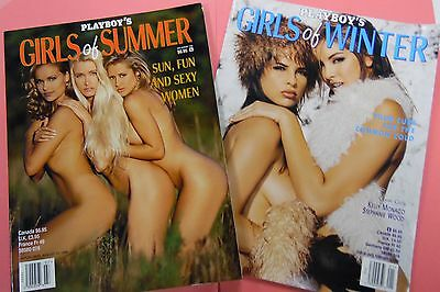 Lot Of 2 Playboy's Girls Of Summer 1996/ Girls Of Winter 1999 062116lm-ep - New