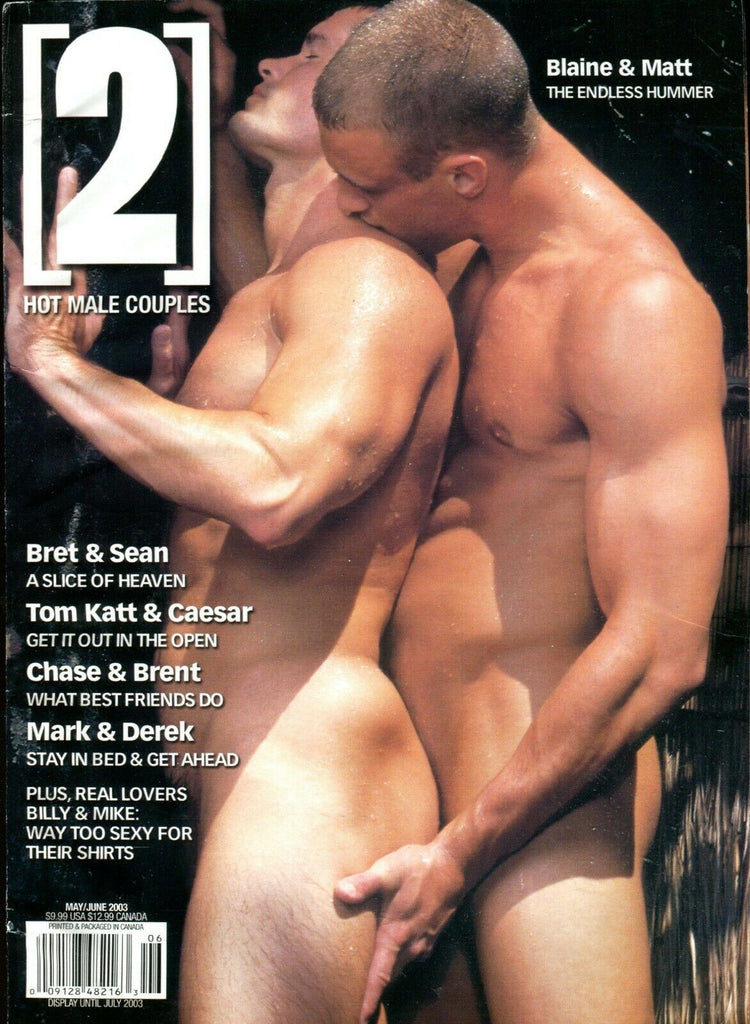 2 Hot Male Couples Gay Magazine Blaine & Matt May 2003 051319lm-ep3 - Used