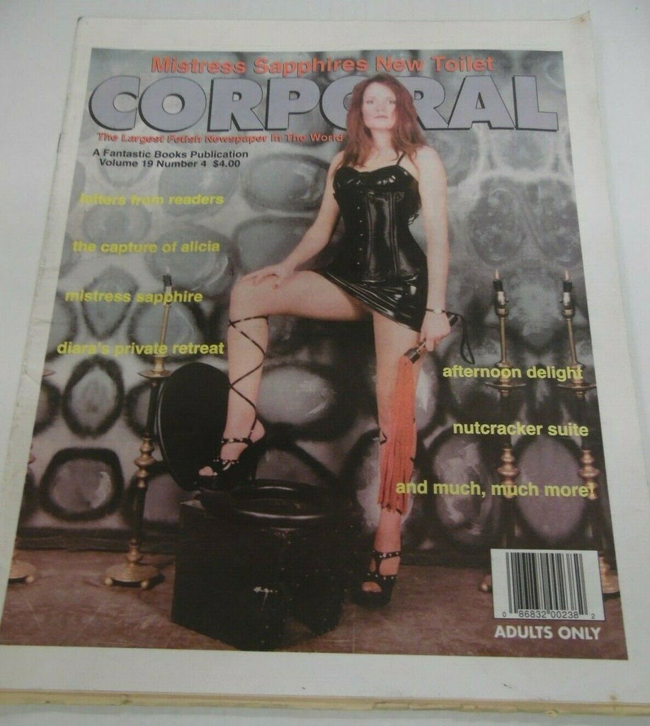 Corporal Fetish Newspaper Mistress Sapphire vol.19 #4 1996 120819lm-ep