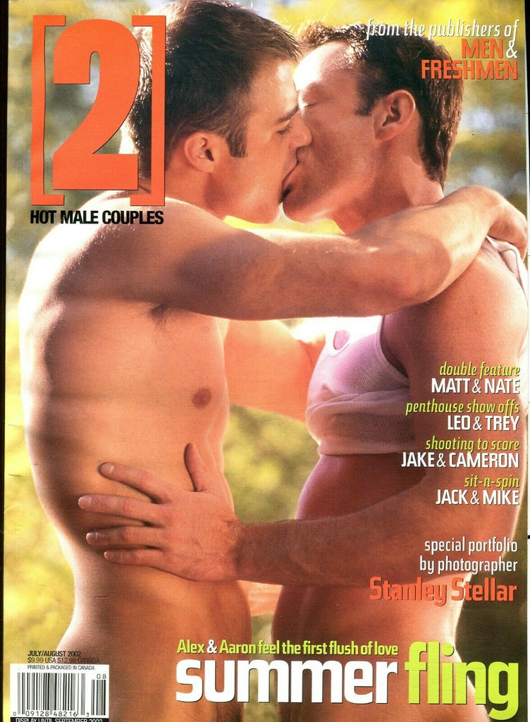 Hot Male Couples 2 Hot Male Couples Magazine Alex & Aaron Ssummer Fling July 2002 081419lm-ep - Used