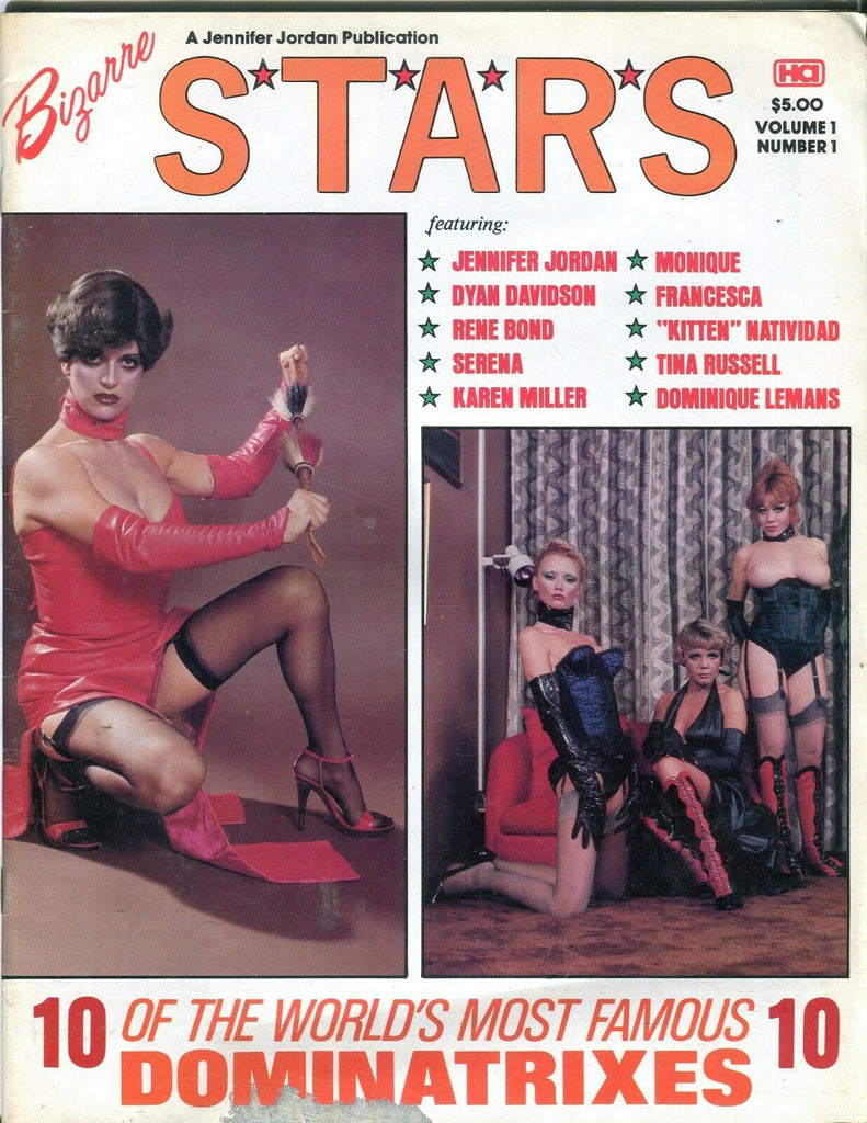 Jennifer Jordan Publication Bizarre Stars Magazine Rene Bond/ Serena/ Kitten Natividad #1 1979 080719lm-ep - Used
