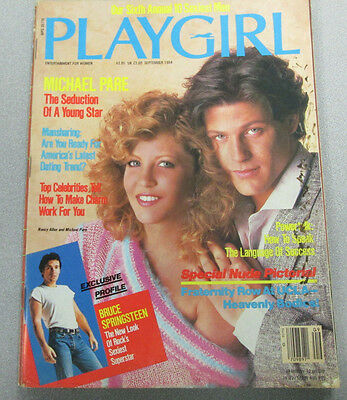 Play Girl Adult Magazine Bruce Springsteen September 1984 vg 022815lm-ep - Used