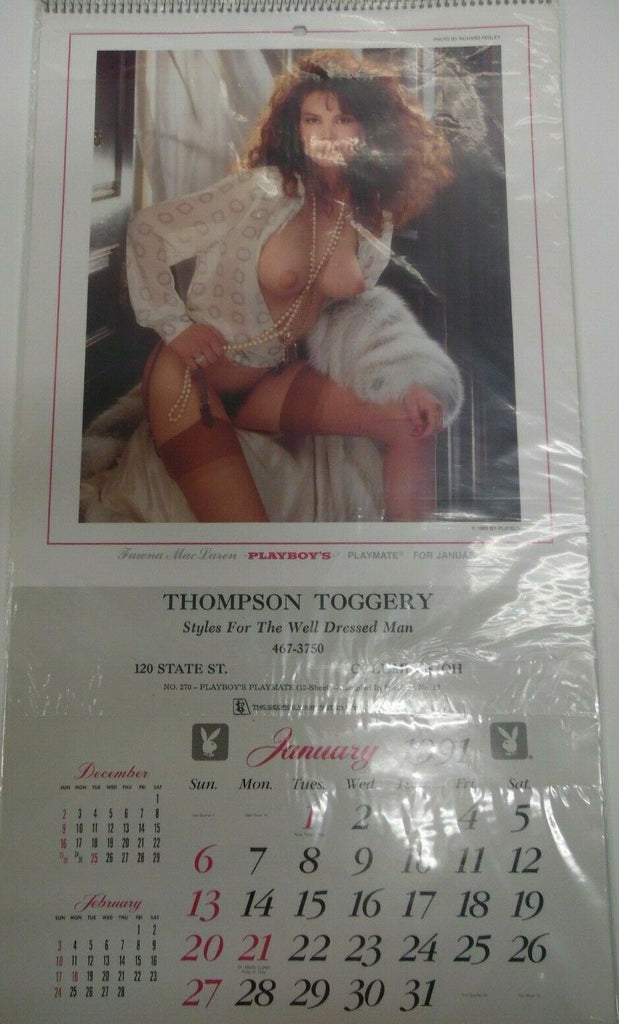 Unbranded Playboy 1991 Advertising Wall Calendar 12 1/2 x 8 1/2 022219lm-ep - Used