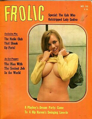 Frolic Busty Magazine The Nudie Club That Shook Paris October 1969 110618lm-ep
