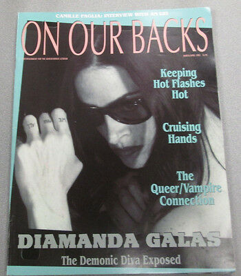On Our Backs Lesbian Adult Magazine Diamanda Galas April 1993 ex 110114lm-ep