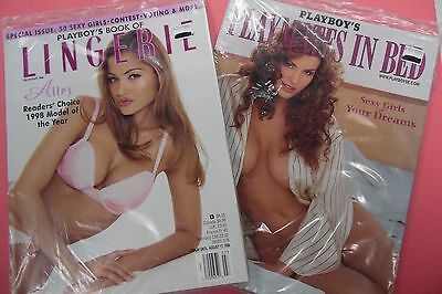 Lot Of 2 Playboy Magazines Lingerie July 1998/Playmates in Bed 2000 062416lm-ep4 - New
