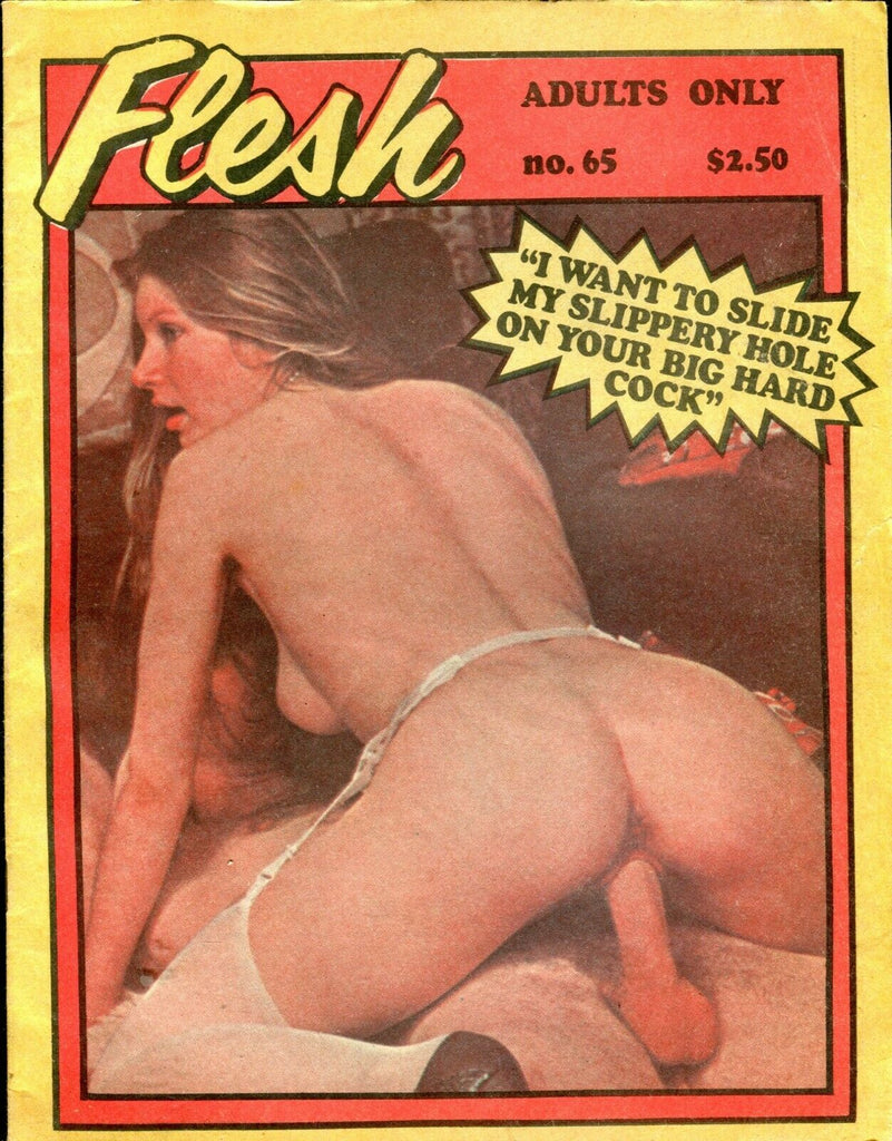 Flesh Magazine Slippery Hole On Your big Hard Cock #65 1980's 060919lm-ep